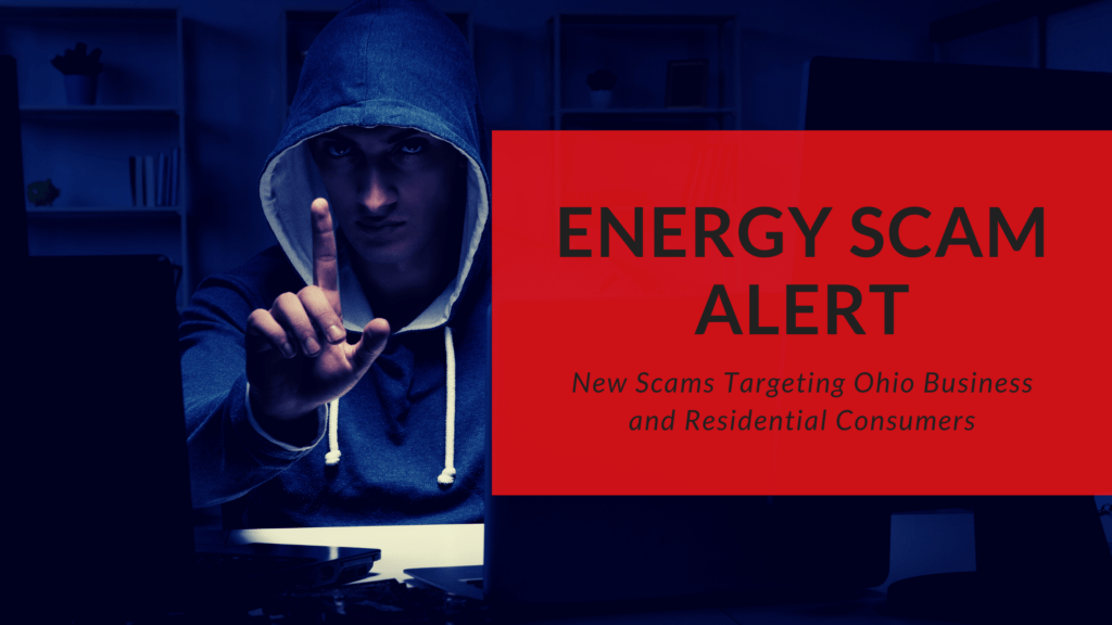 image of thief with words energy scam alert
