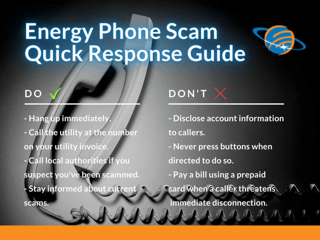 energy phone scams dos and donts list