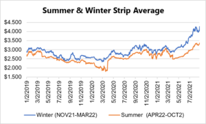 seasonal strip for natural gas August 26 2021 report